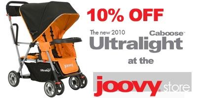 Joovy sale 10% Discount on 2010 Joovy Caboose Ultralights!!