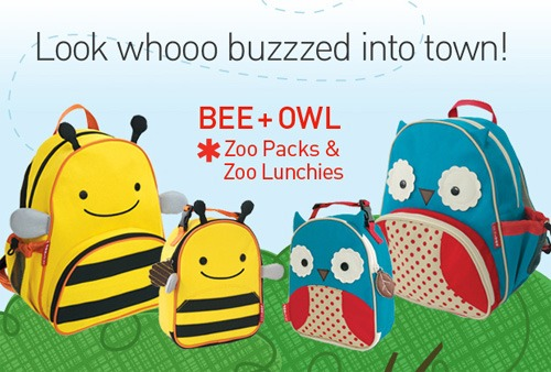 SkipHop bee Bee & Owl Join the Skip Hop Zoo Packs & Lunchies Family