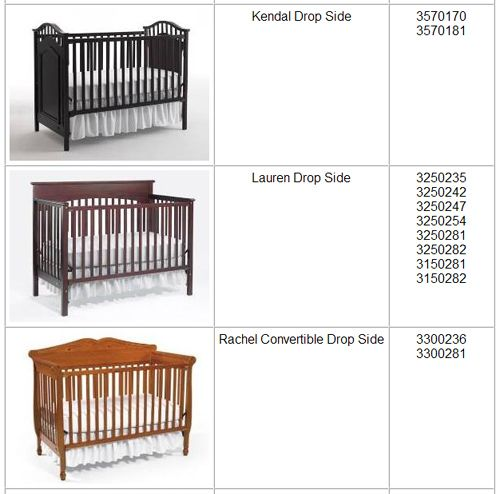 graco cribrecall2 Graco Branded Drop Side Cribs Made by LaJobi Recalled