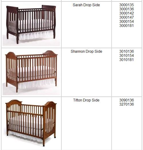 graco cribrecall3 Graco Branded Drop Side Cribs Made by LaJobi Recalled