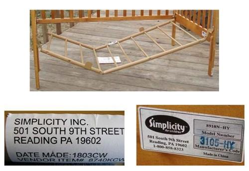 simplicity recall3 Simplicity Cribs Recalled   Risk of Suffocation & Strangulation