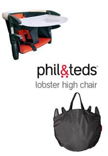 Article lobster Spotlight Product Review:  phil&teds lobster high chair