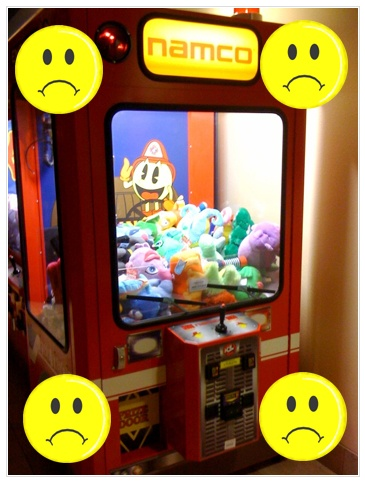 Claw Machine, We are NOT Friends!