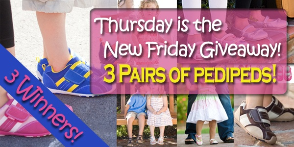 pedipeds thursday Thursday Giveaway: pediped shoes – 3 Winners!