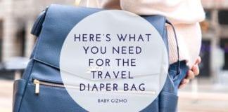 Travel Diaper Bag List