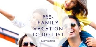 Pre-Family Vacation List