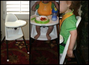 The BabyBjorn High Chair seat and footrest