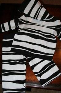 zebra8 199x300 DIY Halloween Zebra Costume