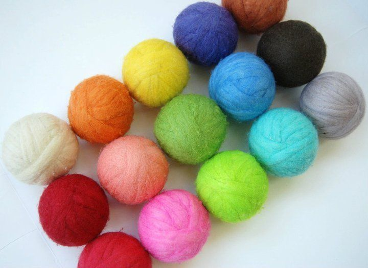 Add wool dryer balls to your laundry!