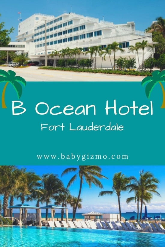 b ocean hotel pool and exterior