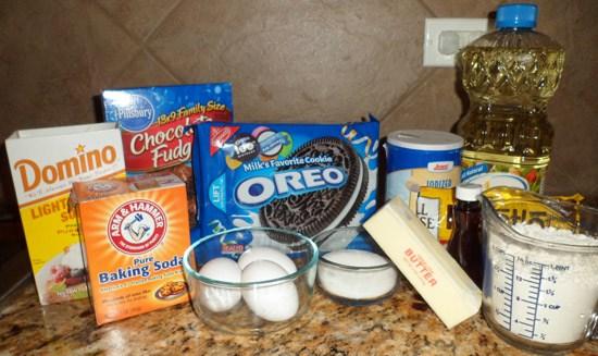 brownie ingred Ultimate Chocolate Chip Cookie Oreo Brownie Bars