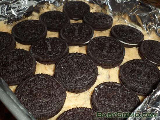 oreos on cookie dough