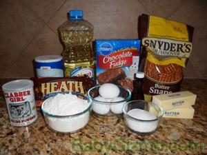 sugarbars ingred Ultimate Pretzel Crusted Sugar Cookie Heath Brownie Bars