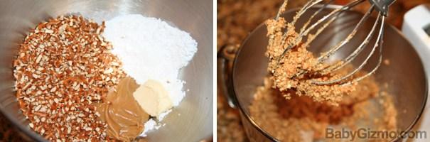 Peanut Butter Pretzel Ball Brownies