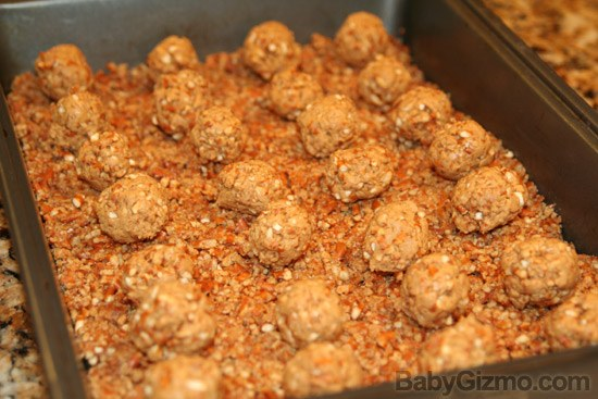 PeanutButterBall pan Peanut Butter Pretzel Ball Brownies