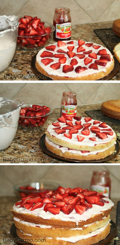 5 Top With Remaining Cake Layer Cut Side Down Spread Two Cups Of Frosting Over The Top And Sides Of The Cake In A Thin Layer Then Frost With Remaining