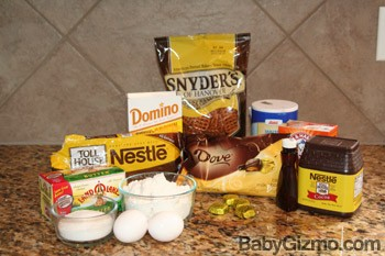 dovecookies Pretzel Crusted Double Chocolate Caramel Cookies