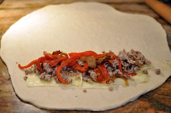 use10 Sausage And Pepper Stromboli