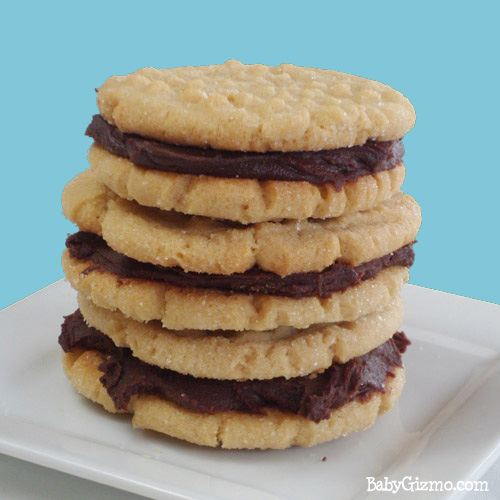 Homemade Nutter Butter Cookies with Ganache Option