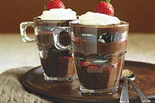 Chocolate, Strawberry and Cookie Parfait