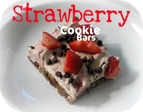 Strawberry Cookie Bars