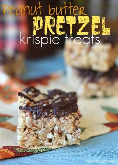 Peanut Butter Pretzel Krispie Treats