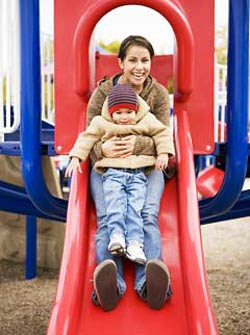 Going Down a Slide with a Child Can Result in a Serious Fracture