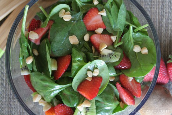 spinach dressing Strawberry Spinach Salad
