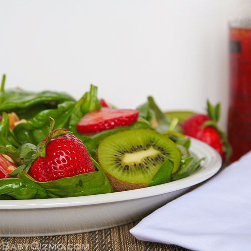 spinach salad plate Strawberry Spinach Salad