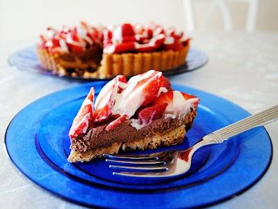 Strawberry Chocolate Mousse Tart