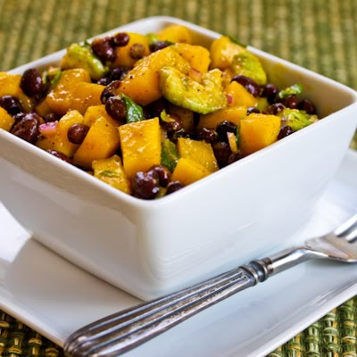 black bean mango salad 400x400 kalynskitchen1 10 Summery and Fun Mango Recipes!