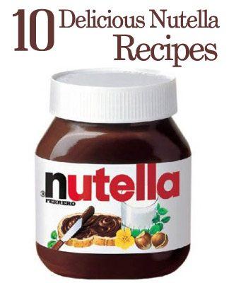 nutella recipes 10 Delicious Nutella Recipes
