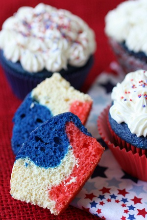 fourth of july tie dye cupcake recipes 300 7 Creative Ideas for Fourth of July Cupcakes