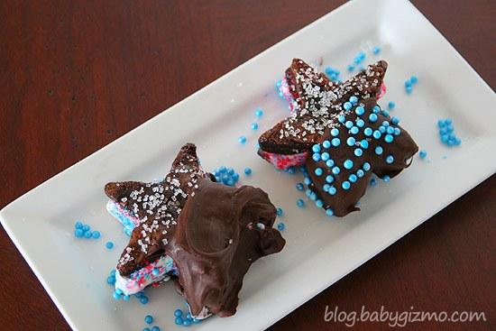 Chocolate Ice Cream Brownie Starwich