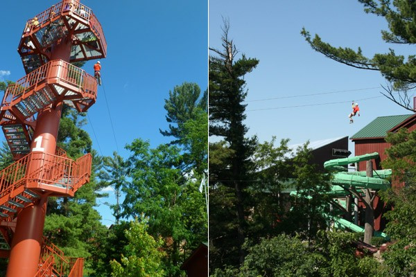 wilderness zip Baby Gizmo Visits Wilderness Territory Resort in the Summer