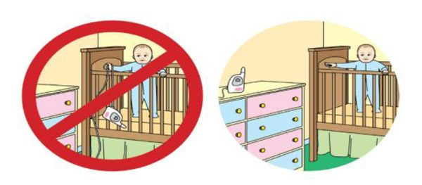 CPSCalert CPSC Safety Alert   Infants and Toddlers Can Strangle in Baby Monitor Cords