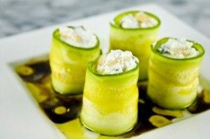 ricotta stuffed olive oil zucchini rolls 300x199 Eight Great Zucchini Recipes