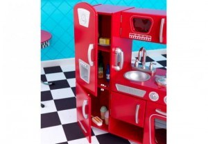 53173 red retro kitchen inset d rs hrwnl 300x207 KidKraft Red Retro Kitchen