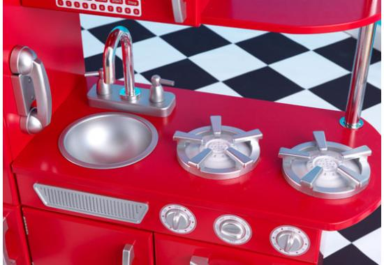 red kitchen for kids