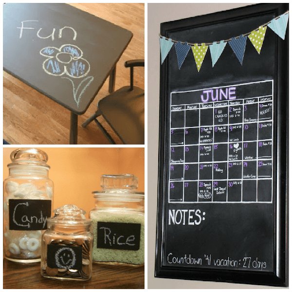chalkboard collage DIY Chalkboard Baby Announcement