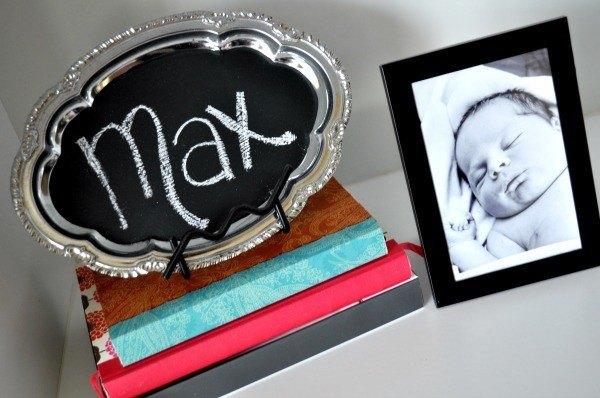 chalkboard diy 3 DIY Chalkboard Baby Announcement