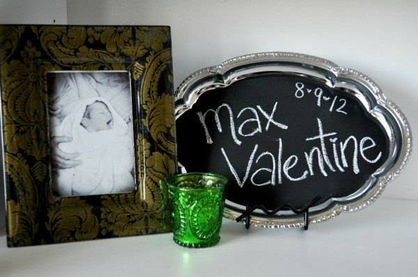 DIY Chalkboard Baby Announcement