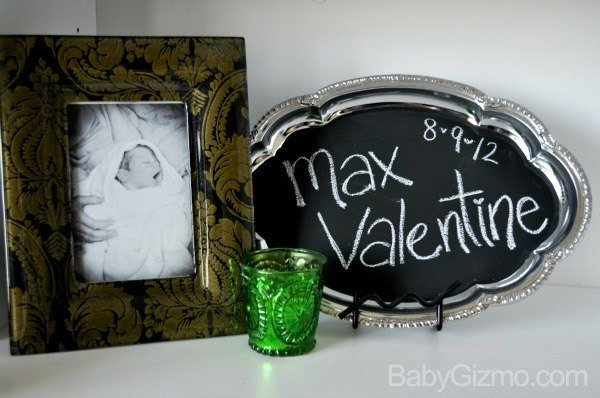 DIY Chalkboard Announcement