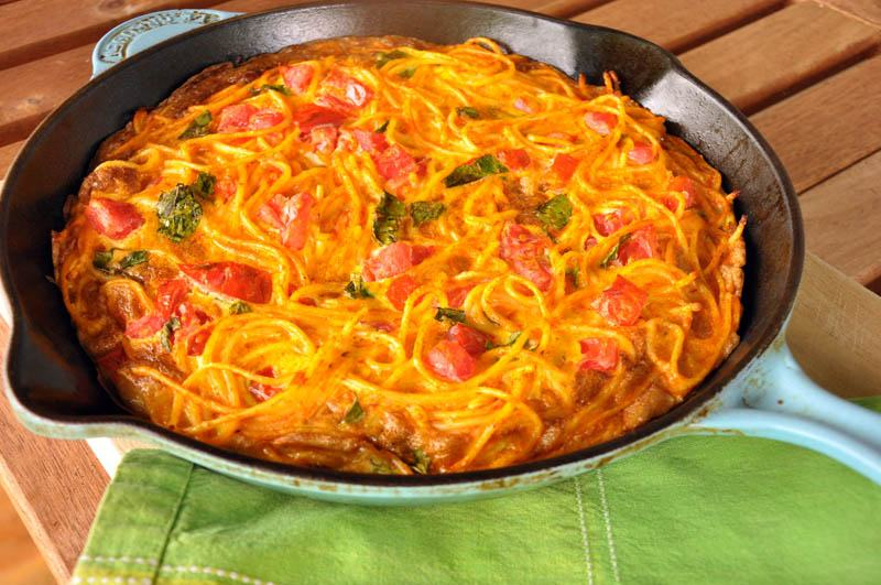 Leftovers Never Tasted THIS Good: Spaghetti Frittata