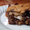 smores stuffed cookie bars