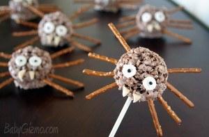 Halloween Treats Krispie Spiders