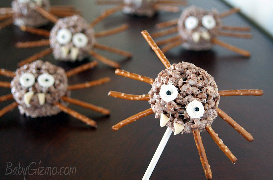 Cocoa Krispies Spider Treats