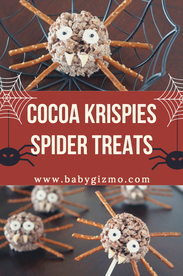 cocoa krispie spiders