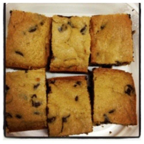 butterscotch cookie bars cut into squares