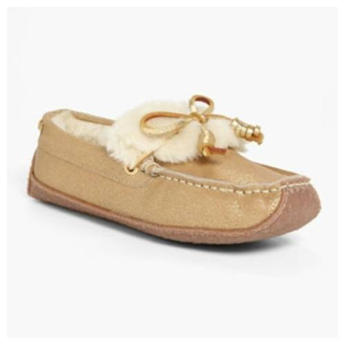 tan house slippers